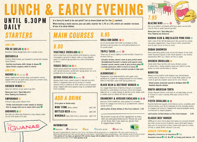 las-iguanas-chelmsford-lunch-menu